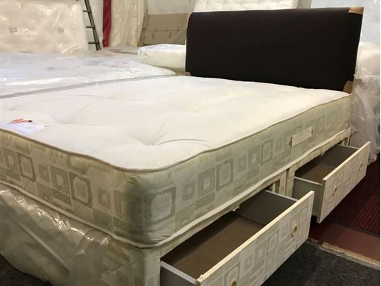 Picture of Royal Divan  Double 2 Drawer  Bed inc  mattress  and Free  Faux Leather Headboard Valued at £99